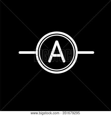 Ammeter Vector Flat Icon Element New Design