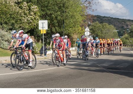 19th February 2020 - Cyclists Taking Part In Stage 1 Of The 46th Volta Ao Algarve Race,  Portimao -