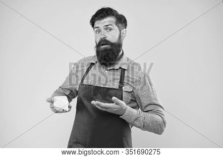 Would You Try This. Choose Online Shopping. Gourmet Product. Puzzled Bearded Man Hold Cheese. Cheese