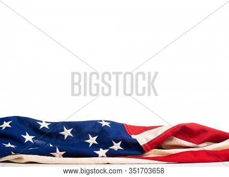 United States flash on a white background with copy space