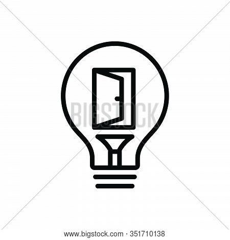 Black Line Icon For Opportunity Convenience Eventuality Occasion  Career Chance Motivation Success A