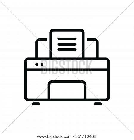 Black Line Icon For Printer Publisher Compositor Typographer Pressperson Digital Electronics Print