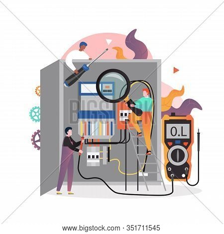 Electricity Services Vector Concept For Web Banner, Website Page