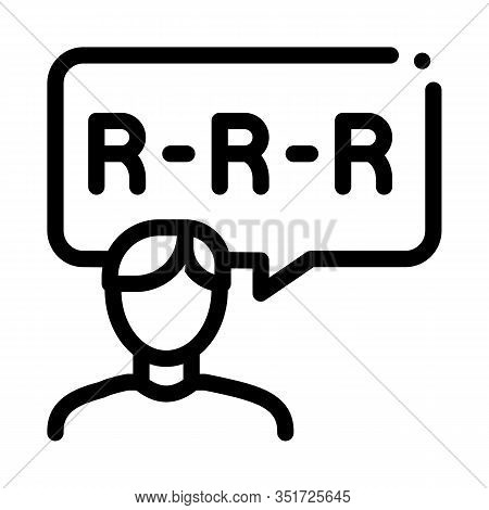 Pronunciation Icon Vector. Outline Pronunciation Sign. Isolated Contour Symbol Illustration
