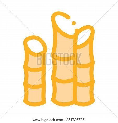 Agricultural Cane Icon Vector. Outline Agricultural Cane Sign. Isolated Contour Symbol Illustration