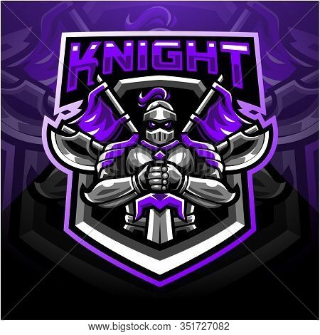 Knight Sport Mascot Logo Design With Text