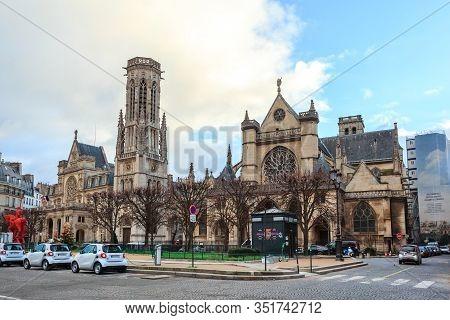 Paris, France - January 17, 2019: Paris, View Of The Saint Germain Church