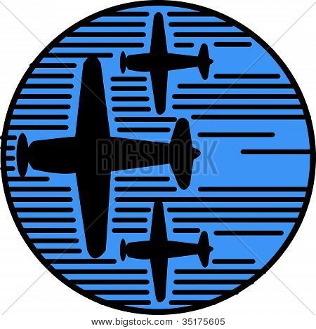 Planes Fly By Salute Clipart