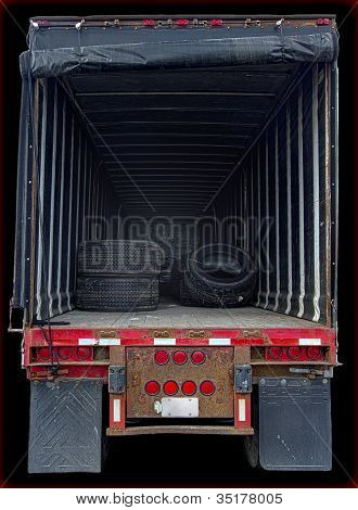 Truck Interior Showing Cargo Space