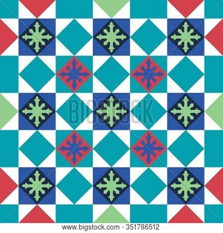 Baba And Nyonya Peranakan Tile And Mosaic Pattern. Traditional Seamless Peranakan Tile. Vintage Pera