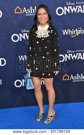 LOS ANGELES - FEB 18: Ali Wong arriving to the ÔOnwardÕ World Premiere on February 18, 2020 in Hollywood, CA
