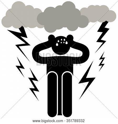 Astraphobia. Astrapophobia. Brontophobia. Keraunophobia. Tonitrophobia. Fear Of Thunder And Lightnin