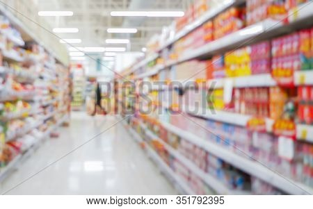 Perspective View, Abstract Concept Blurred Colorful Background, Customer Shopping Several Consumer G