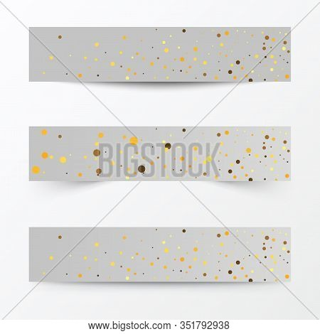 Baner Dust. Light Effect On Beautiful Banners. Dust Effect. Dust Particles Flicker On A Gray Backgro