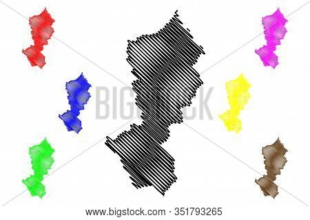 Moravica District (republic Of Serbia, Districts In Sumadija And Western Serbia) Map Vector Illustra