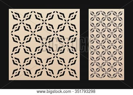 Laser Cut Template. Elegant Vector Panel With Abstract Geometric Pattern In Oriental Style, Ornament
