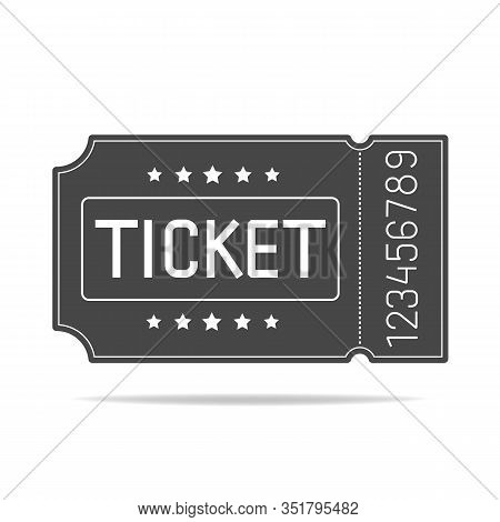 Vector Of A Ticket Icon In A Flat Style. Retro Ticket Stub .