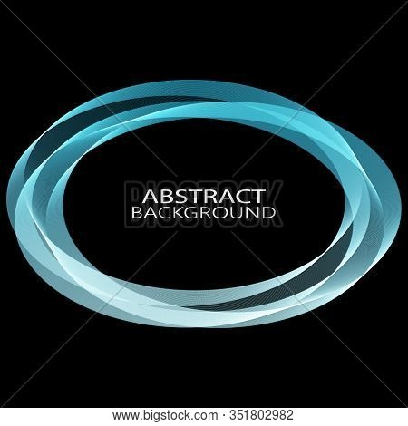 Abstract Vector Background, Round Blue Transparent Ring. Circle Shape. Circle Lines. Blue Circles. T