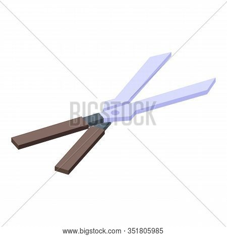 Bush Scissors Icon. Isometric Of Bush Scissors Vector Icon For Web Design Isolated On White Backgrou