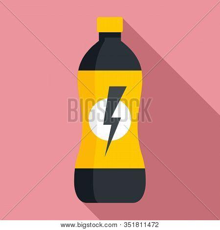 Soda Energy Drink Icon. Flat Illustration Of Soda Energy Drink Vector Icon For Web Design
