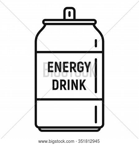 Boost Energy Drink Icon. Outline Boost Energy Drink Vector Icon For Web Design Isolated On White Bac