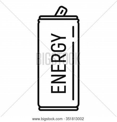 Soda Energy Drink Icon. Outline Soda Energy Drink Vector Icon For Web Design Isolated On White Backg