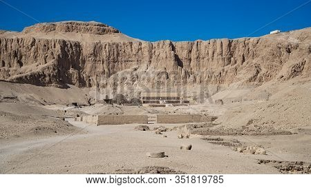 Luxor, Egypt : The Mortuary Temple Of Hatshepsut, Also Known As The Djeser-djeseru, Is A Mortuary Te