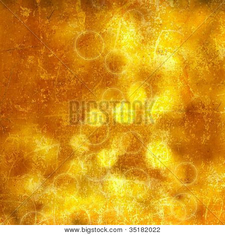 Golden bokeh backround