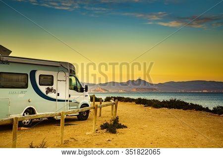 Camper On Coast, 10 February 2019, Santa Pola Spain