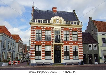 Hattem, The Netherlands - Februari 20, 2020: Town Hall Of The Hattem.