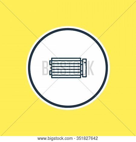 Vector Illustration Of Condenser Icon Line. Beautiful Details Element Also Can Be Used As Condensati