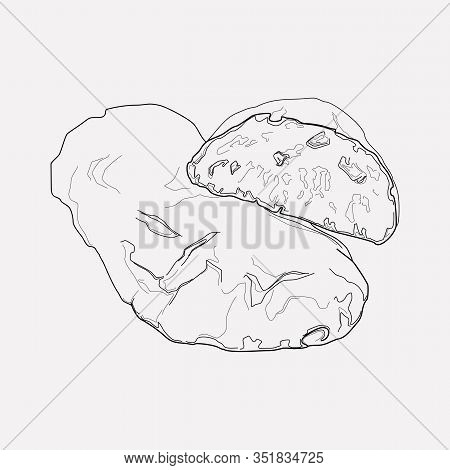 Ciabatta Icon Line Element. Vector Illustration Of Ciabatta Icon Line Isolated On Clean Background F