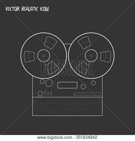 Audio Recorder Icon Line Element. Vector Illustration Of Audio Recorder Icon Line Isolated On Clean