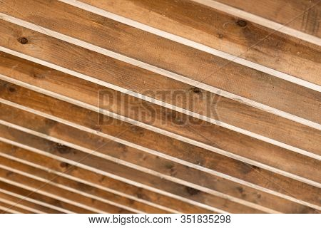 Inclined Wooden Beams Image Photo