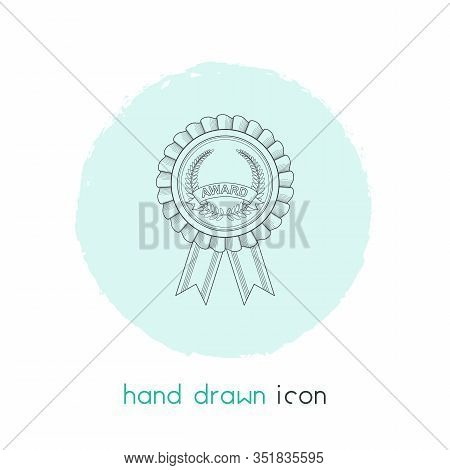 School Award Icon Line Element. Illustration Of School Award Icon Line Isolated On Clean Background