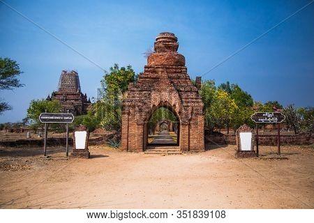 Began, Burama-March 9, 2017: Hsin Bhyu Shin monastic complex, Bagan, Myanmar (BURMA)