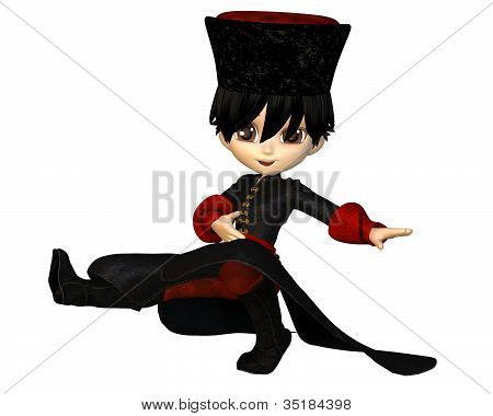 Toon Cossack Dancer