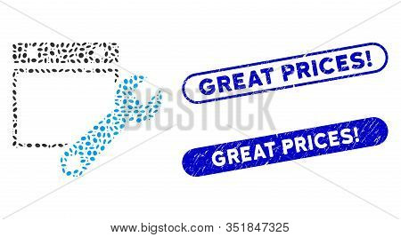 Mosaic Date Setup And Corroded Stamp Seals With Great Prices Exclamation Phrase. Mosaic Vector Date