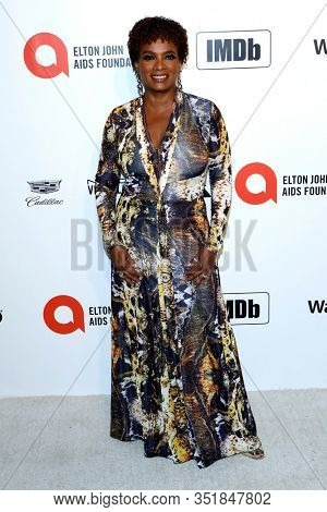 LOS ANGELES - FEB 9:  Vanessa Bell Calloway at the 28th Elton John Aids Foundation Viewing Party at the West Hollywood Park on February 9, 2020 in West Hollywood, CA