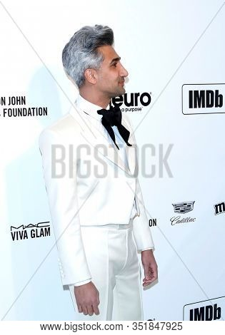 LOS ANGELES - FEB 9:  Tan France at the 28th Elton John Aids Foundation Viewing Party at the West Hollywood Park on February 9, 2020 in West Hollywood, CA
