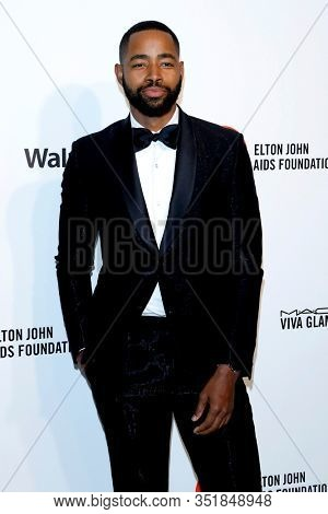 LOS ANGELES - FEB 9:  Jay Ellis at the 28th Elton John Aids Foundation Viewing Party at the West Hollywood Park on February 9, 2020 in West Hollywood, CA