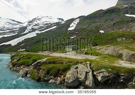 Landscape Mountains Of Norway