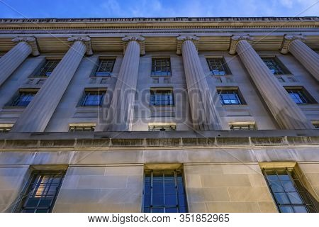 Facade Robert F Kennedy Justice Department Building Pennsylvania Avenue Washington Dc Completed In 1