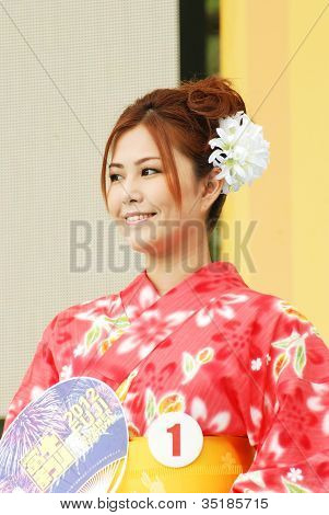 Miss Fuji Beauty On Main Stage Japan