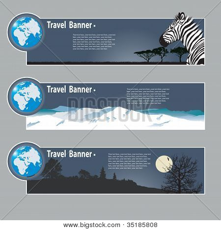 poster of Travel banners: landscapes of the miscellaneous continent