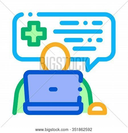 Online Diagnosis Icon Vector. Outline Online Diagnosis Sign. Isolated Contour Symbol Illustration