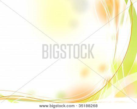 Green Orange Fresh Background