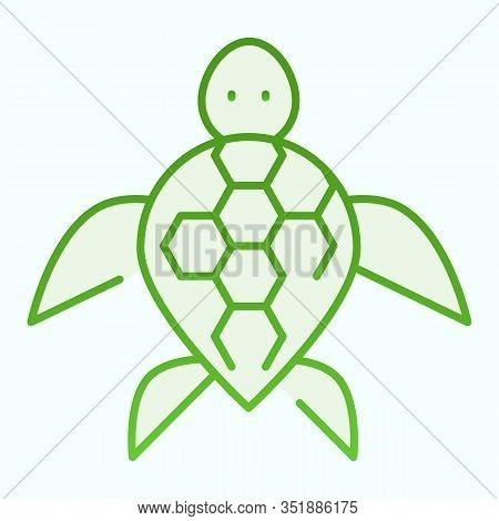 Turtle Flat Icon. Ocean Or Sea Kareta Tortoise Illustration Isolated On White. Marine Turtle-shell A