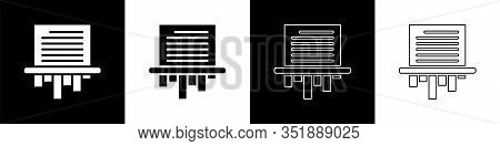 Set Paper Shredder Confidential And Private Document Office Information Protection Icon Isolated On