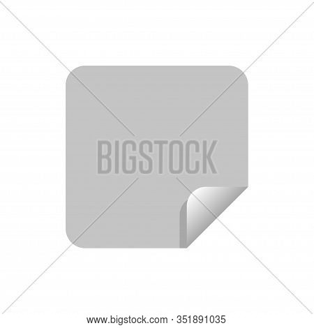 Paper Sticker Vector Isolated On White Background